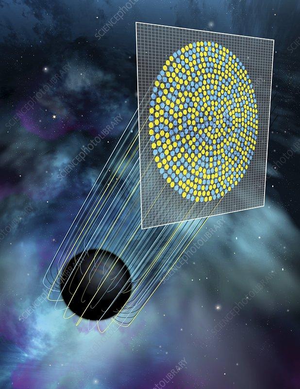 Black hole holography, illustration