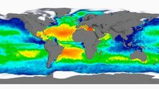 Sea surface salinity, 2012 global map