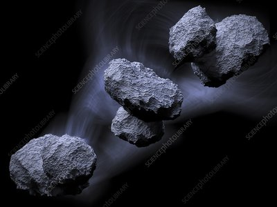 Comet Churyumov-Gerasimenko, illustration