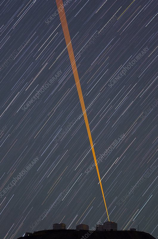 VLT and laser guide under star trails