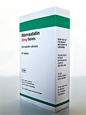 Atorvastatin drug packaging