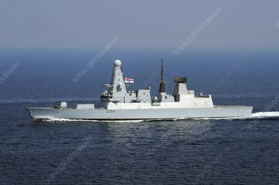 HMS Diamond at sea