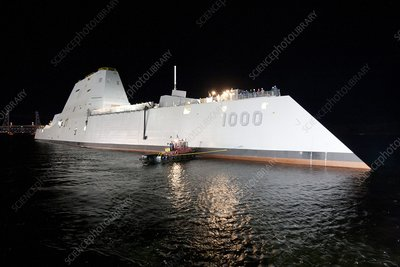 Stealth guided-missile destroyer