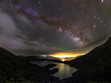 Milky Way over Lagoa do Fogo, Azores