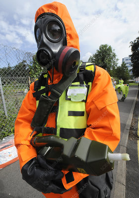 Radiation emergency response worker