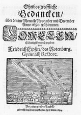 German book on the comet of 1680