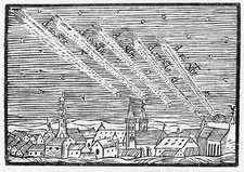 Comet of 1680, historical illustration