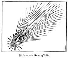 Halley's Comet in 684, illustration