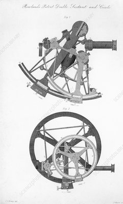 Double sextant and double circle, 1830s