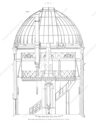 Radcliffe Observatory telescope, 1906