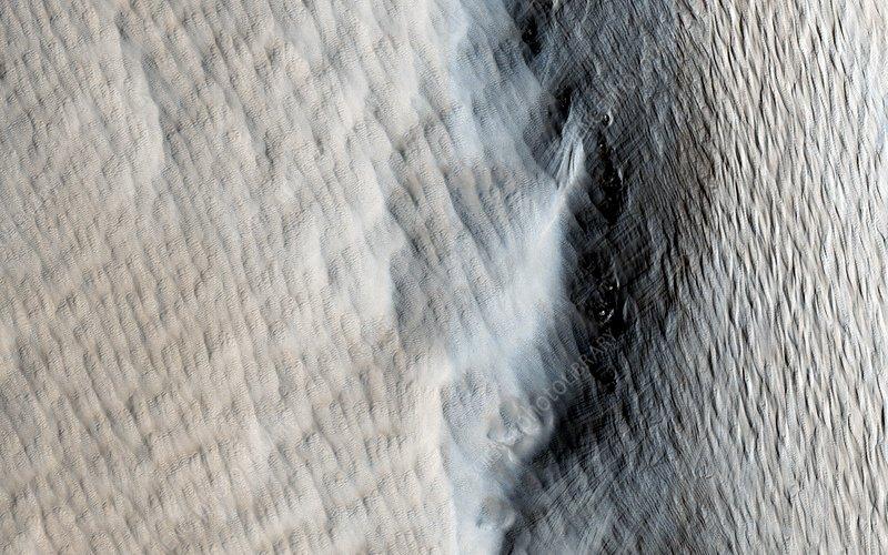 Tharsis Tholus volcano, Mars, MRO image