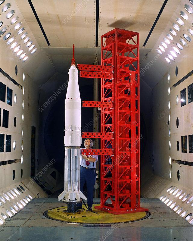 Saturn rocket model testing