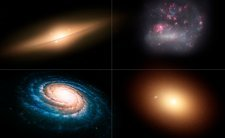 Artwork of Different Types of Galaxies