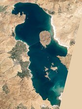 Lake Urmia, Iran, 1998, satellite image