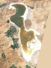 Lake Urmia, Iran, 2011, satellite image