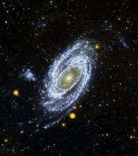 M81 galaxy, space telescope image