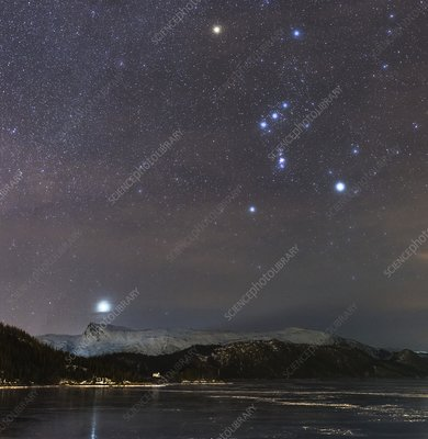 Sirius rising with Orion