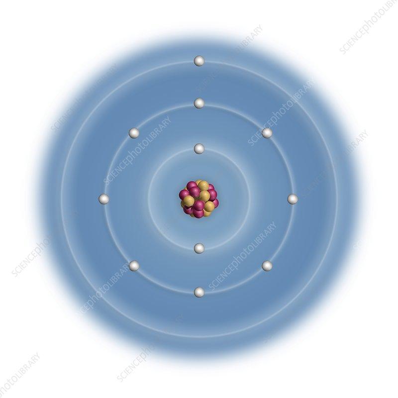 Sodium, atomic structure