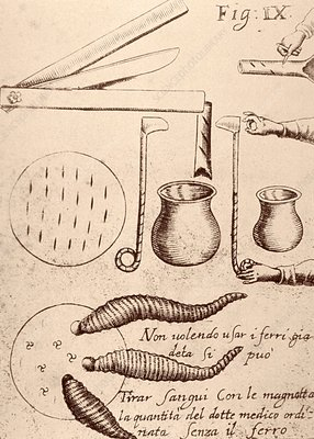 Blood-letting instruments, 17th century