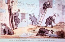 Doctors investigating cholera, 1832