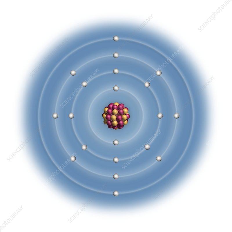 calcium, atomic structure stock image c023 2483 science photo Cesium Atomic Diagram
