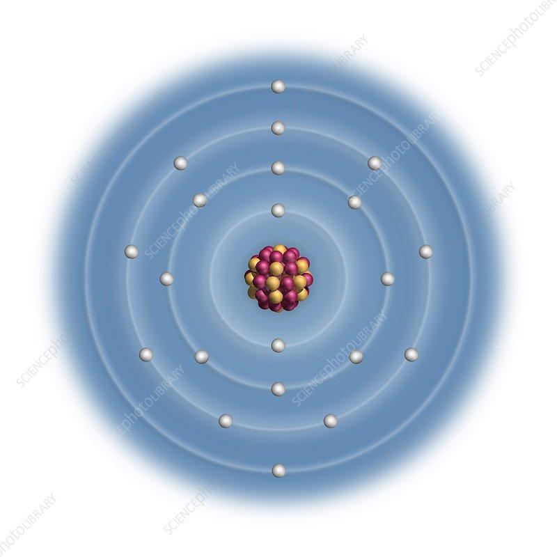 Scandium  Atomic Structure - Stock Image C023  2484