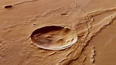 Impact crater, Mars Express image