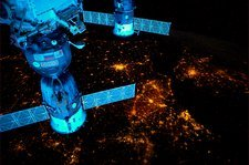 City lights of Western Europe, ISS image