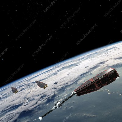 Swarm satellites, illustration