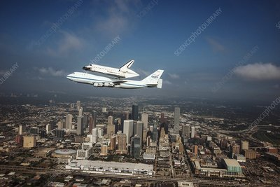 Space Shuttle Endeavour piggyback flight