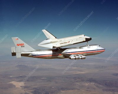 Space Shuttle Enterprise piggyback flight