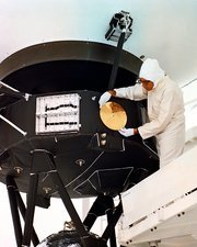 Voyager disc installation, 1970s
