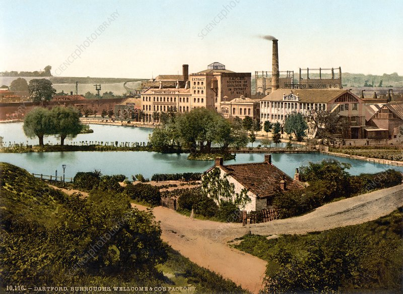 Pharmaceutical factory, Dartford, 1890s
