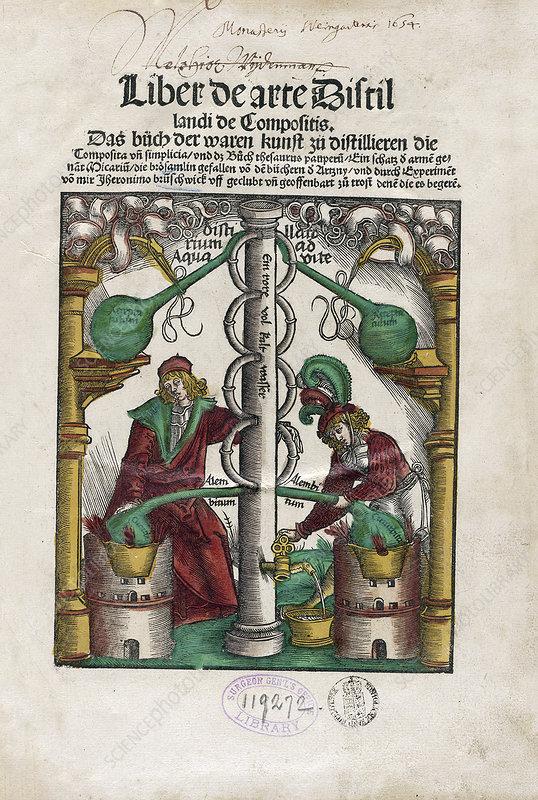 Distillation apparatus, 16th century
