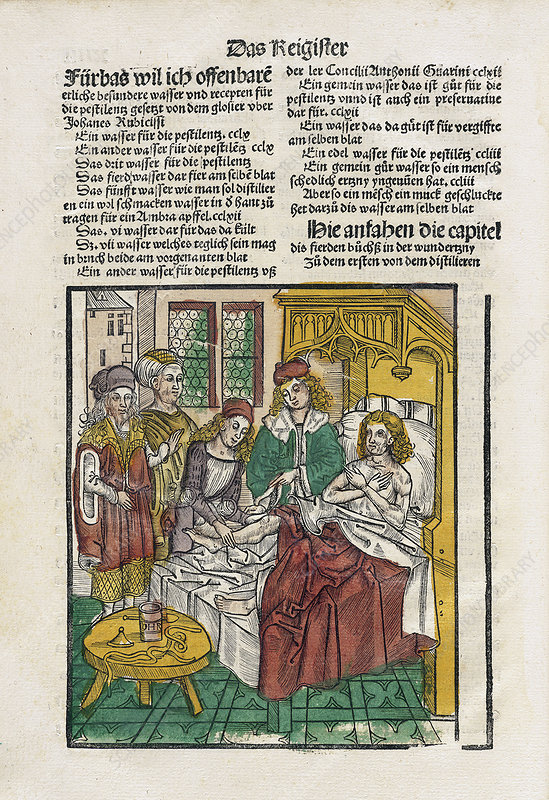 Sickbed treatments, 16th century