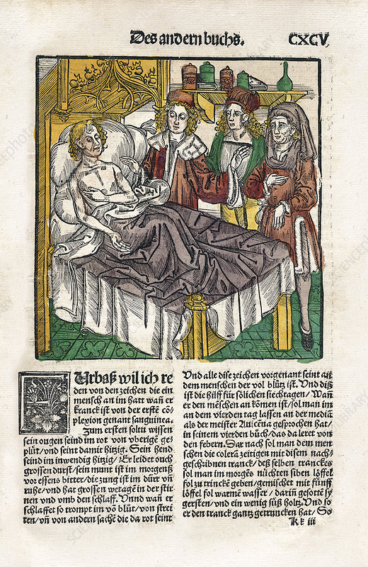 Sickbed consultation, 16th century