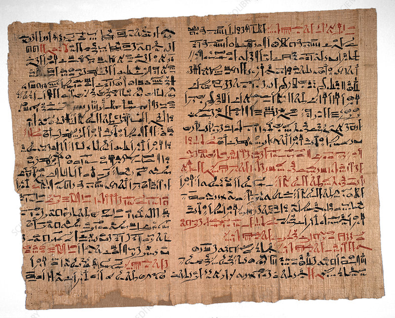 Edwin Smith Papyrus, Egyptian medicine - Stock Image - C023