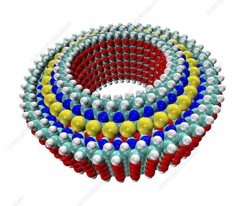 Diamondoid bearing, illustration