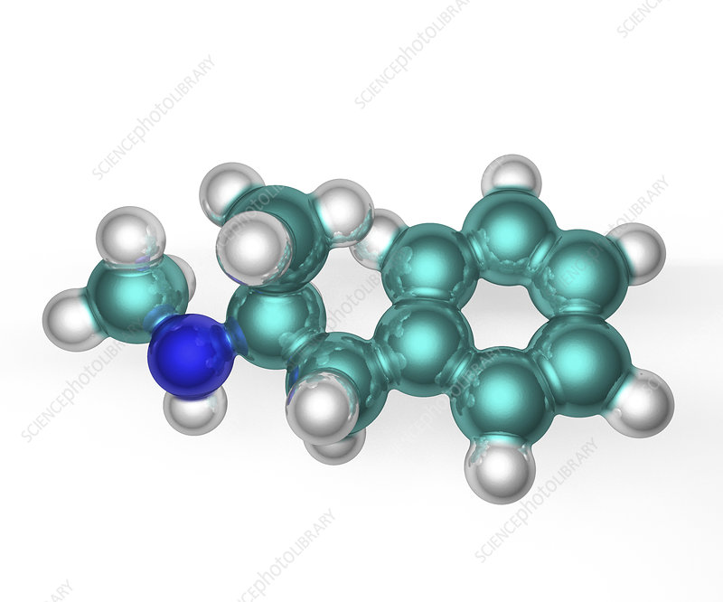 Methamphetamine molecule, model