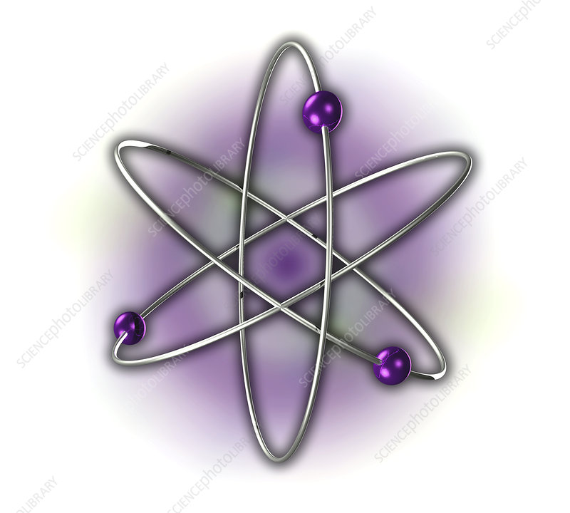 Atomic structure, illustration