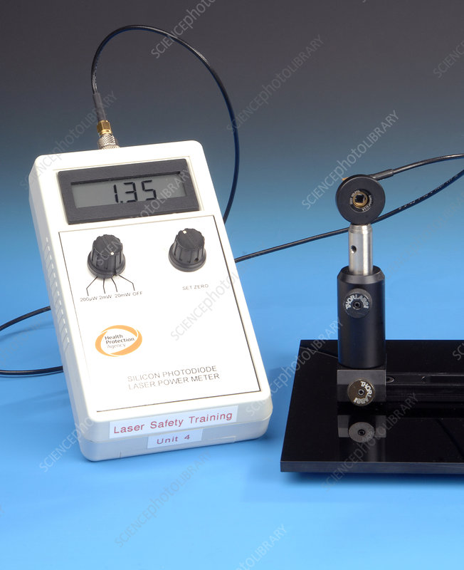 Laser Power Meter : Photodiode laser power meter stock image c