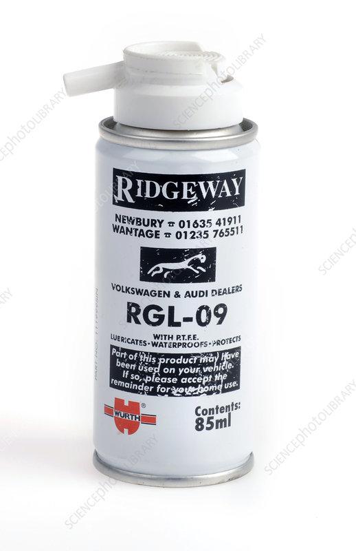 Automotive lubricant spray