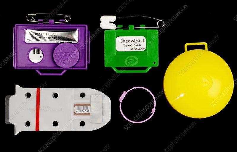 Film Badge Radiation Dosimeters Stock Image C0233931 Science