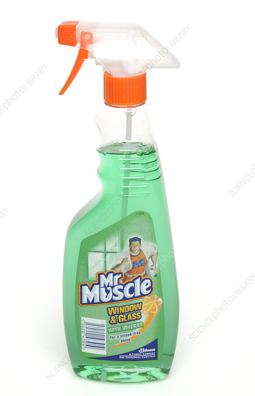Household glass cleaner