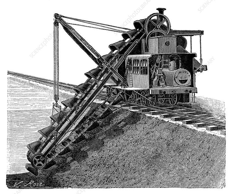 vecchie escavatrici a vapore le origini C0234029-Steam-powered_excavator%2C_19th_century-SPL