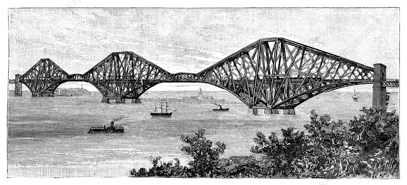 Forth Bridge, 19th century