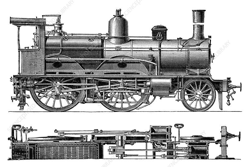 Compound steam locomotive, 1880s