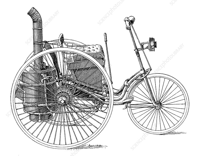 Serpollet steam tricycle, 19th century