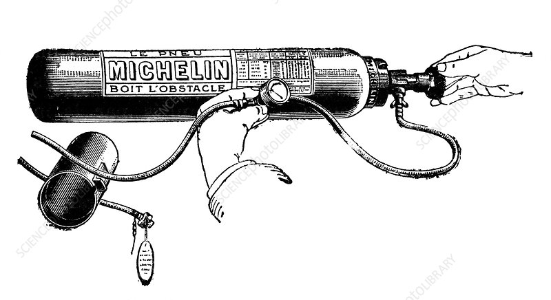 Michelin air cylinder, illustration