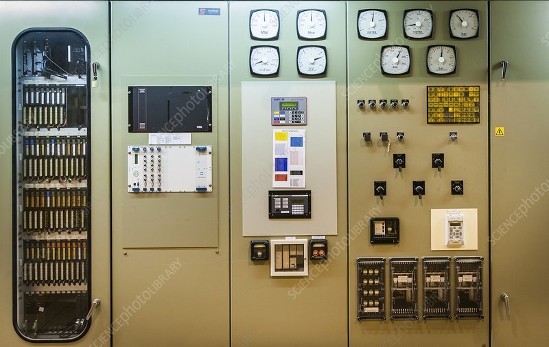 Power station control panel